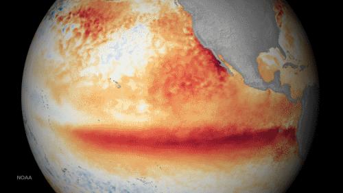 El Nino in action, from NOAA