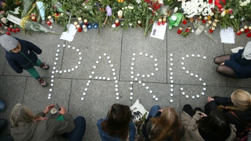 Paris tribute on 14 November 2015 in Berlin, Germany.