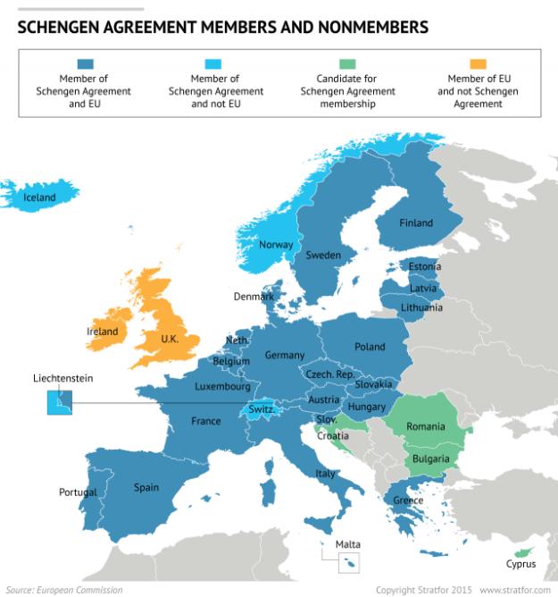 Schengen treaty membership