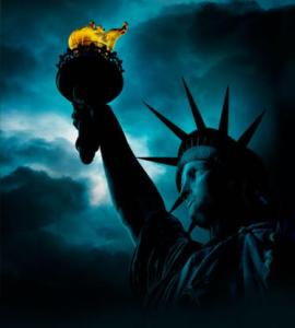 Statue of Liberty in the darkness