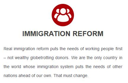 Trump platform: immigration