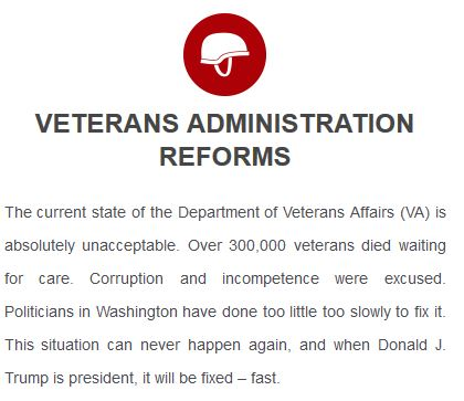 Trump's platform: reform the VA