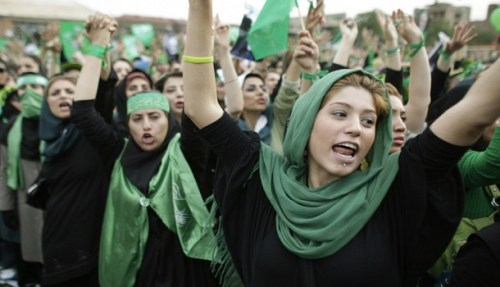 2009 protest in Iran's Green revolution,