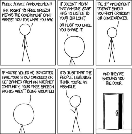 XKZD Cartoon about Free Speech