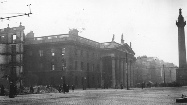 Ruins of Dublin Post Office after Easter Rising In Ireland