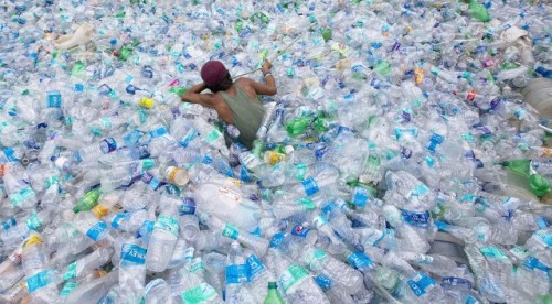 A plastic ocean