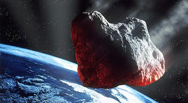 Asteroid approaching Earth