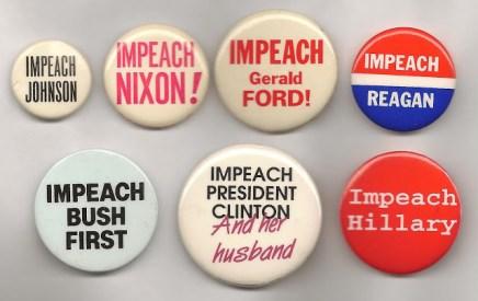 Impeachment buttons