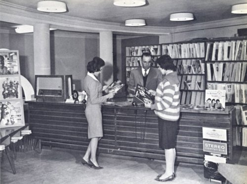 Women at a record store in Kabul, Afghanistan