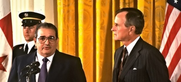 Guillermo Endara and George H W Bush
