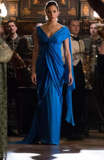Gal Gadot as Wonder Woman in a dress