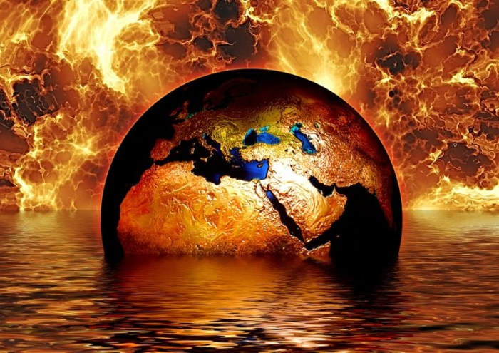 Burning Destroyed Earth