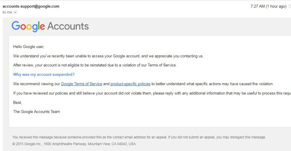 Google message to Salil Mehta