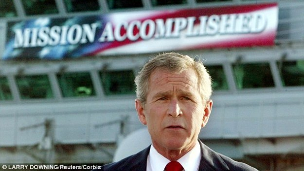 """""""Mission Accomplished"""" in Iraq."""