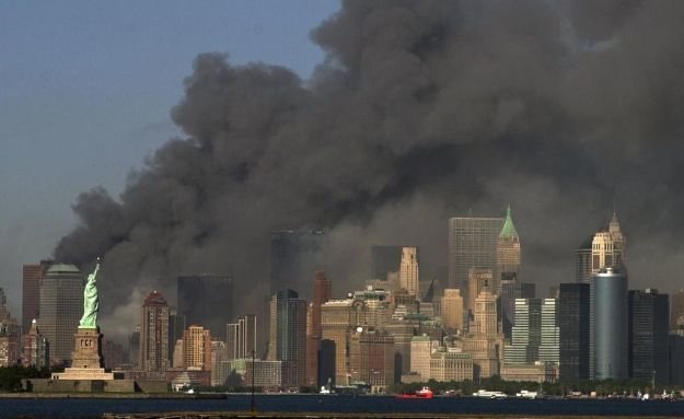 America burning on 9-11-01