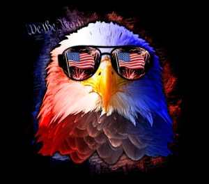 American Eagle with shades