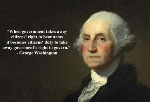 Fake Gun Quote by Washington -2
