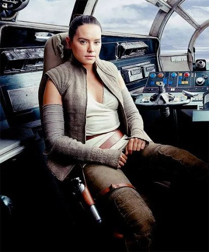 Daisy Ridley as Rey in Star Wars