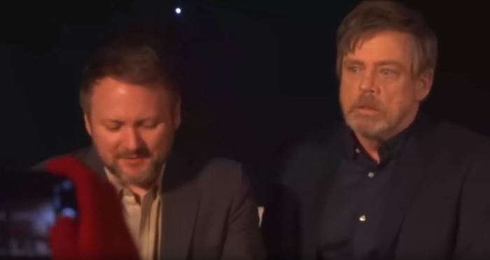 Rian Johnson and Mark Hamill