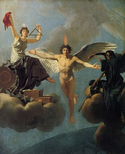 """""""The Genius of France between Liberty and Death"""" by Regnault Henri."""