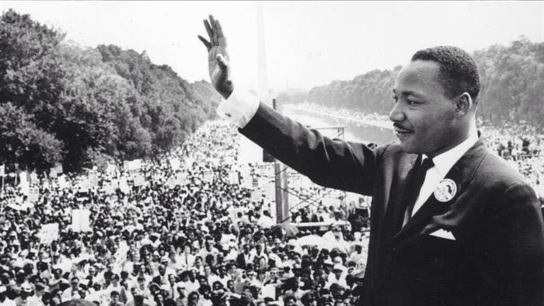 Martin Luther King Jr at the National Mall in Washington DC (1963)