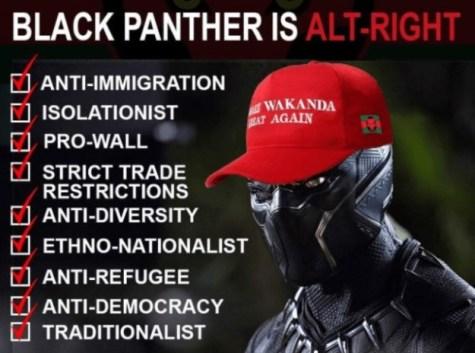 Wakanda is an alt-right nation