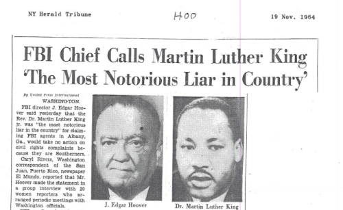 FBI lies about Martin Luther King Jr.