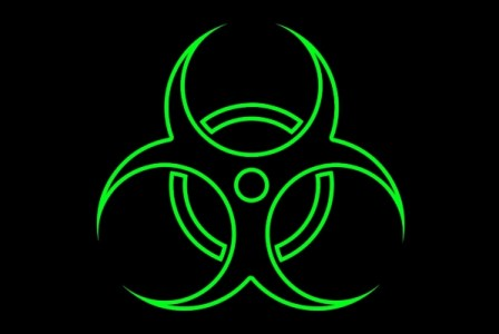 Toxic: biohazard symbol