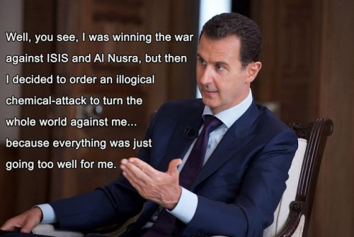 Assad explains his chemical attack