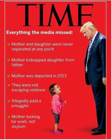 TIME fake news cover about migrant child