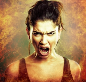 Scream of angry woman - dreamstime_70468011