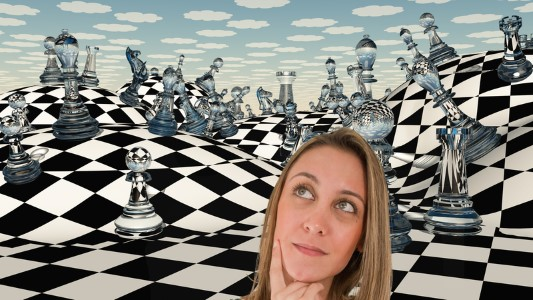 Alice looks at the RussiaGate chessboard.