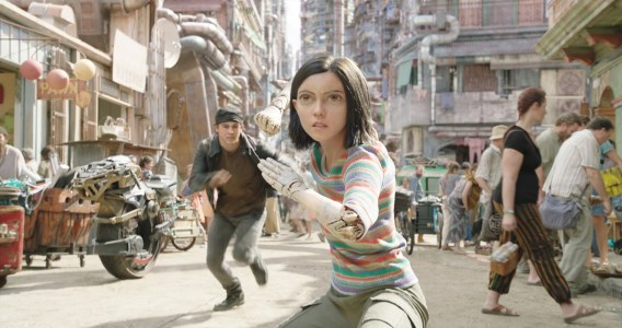 Alita in a street fight