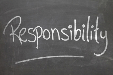 Responsibility written on a blackboard -dreamstime_50714069