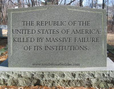 A tombstone for America