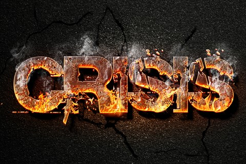 Crisis on fire.