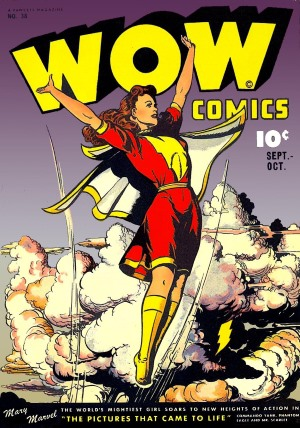 Mary Marvel in Wow comics, October 1945