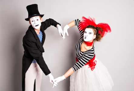 Two Mimes - Dreamstime_66088202