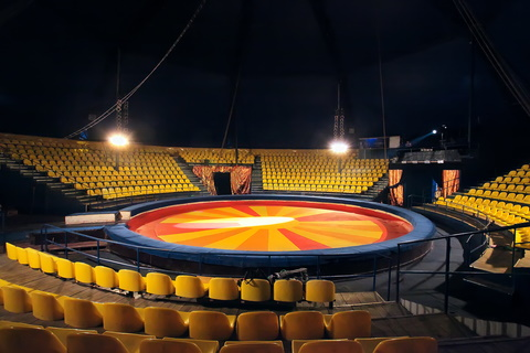 Empty circus tent
