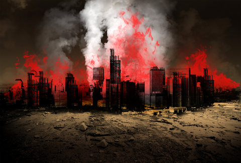 Burning City - Dreamstime-46822273