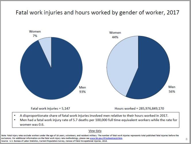 Work Fatality Rates by Gender - 2017
