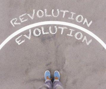The line between Revolution and Evolution - Dreamstime-86092871