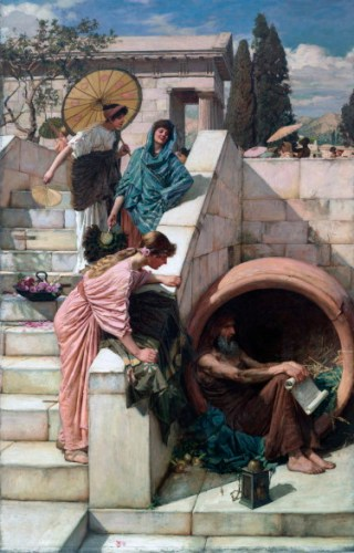 Diogenes by John William Waterhouse (1882)
