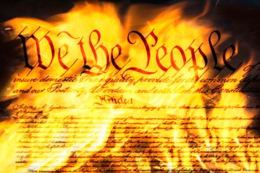 Burning Constitution - Dreamstime-162545188