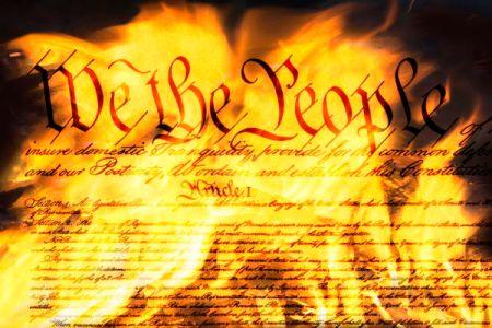 Burning Constitution - Dreamstime-162545188