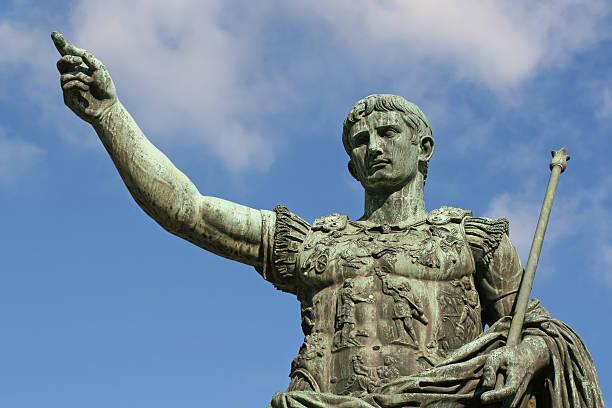 Statue of Caesar Augustus in Rome, Italy