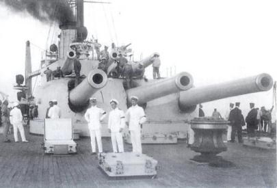 30.5 cm Skoda guns on the SMS_Tegetthoff