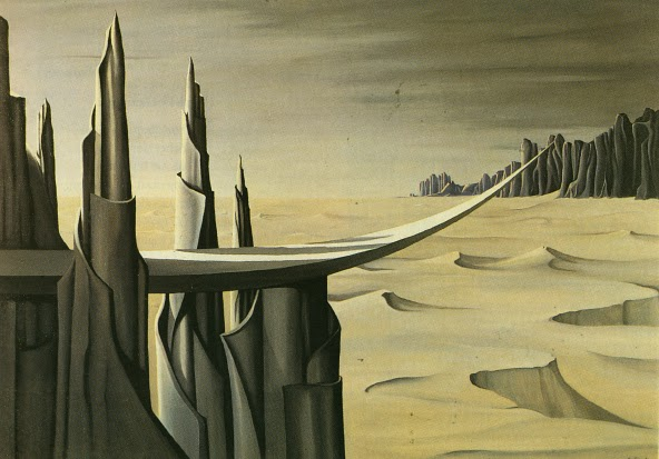 """Danger, Construction Ahead"" by Kay Sage, 1940."
