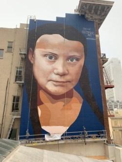 Greta Thunberg Mural in San Francisco
