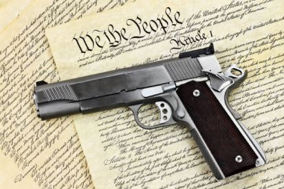 Gun on the Constitution - Dreamstime-77192155